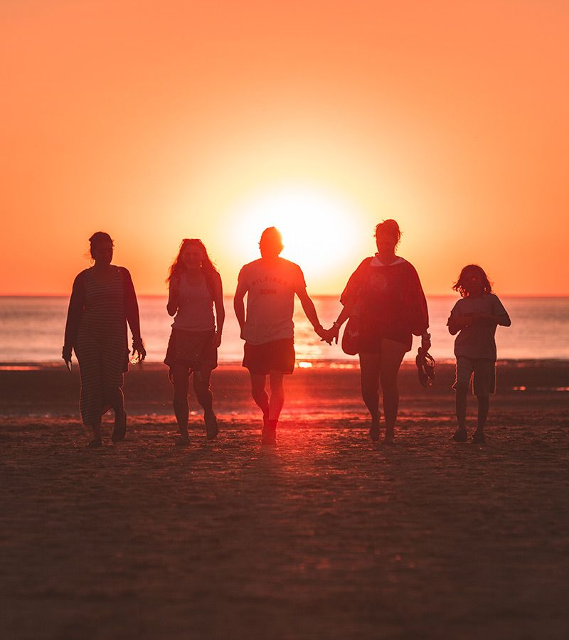 Group of people on a beach.