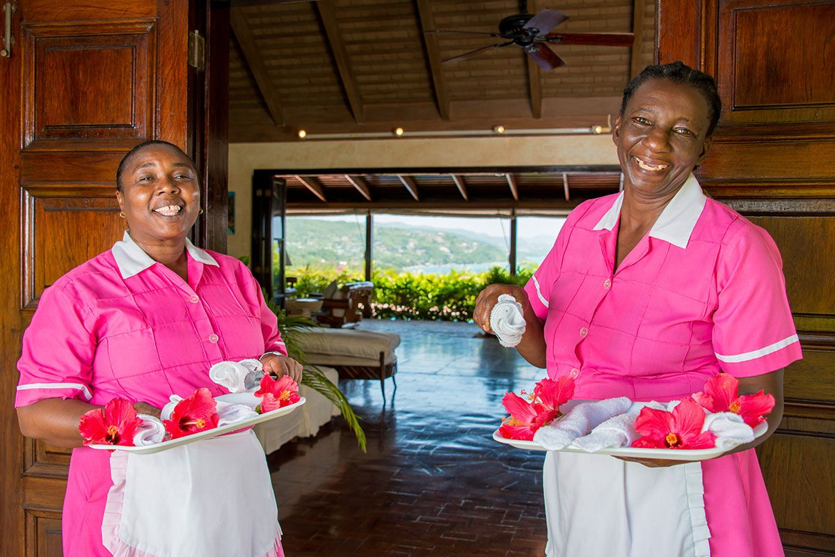 Warm and friendly housekeepers.